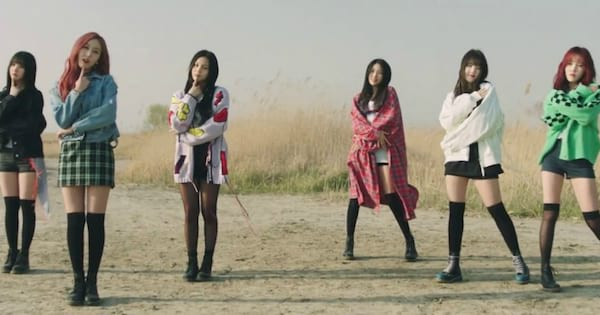 GFriend's music video for their song \Time for the Moon Night\