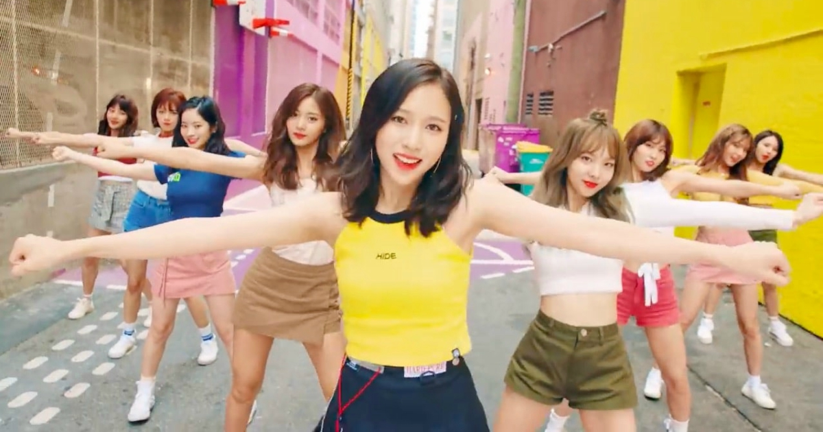 TWICE's music video for their single \LIKEY\