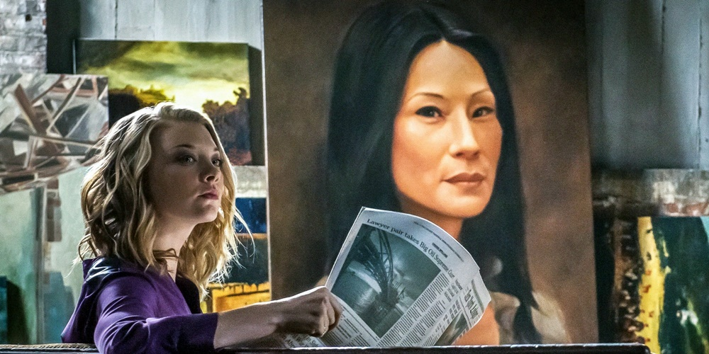 Moriarty reading the paper with a painting of Joan in the background., movies/tv, pop culture, wdc-slideshow