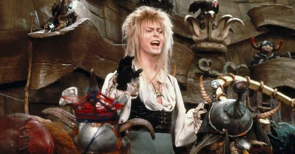 David Bowie singing to muppets in Labyrinth