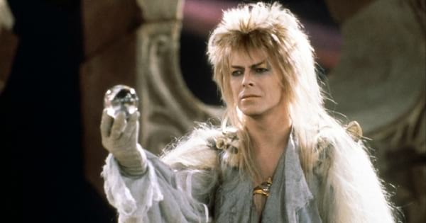 David Bowie's character in Labyrinth holding a crystal ball
