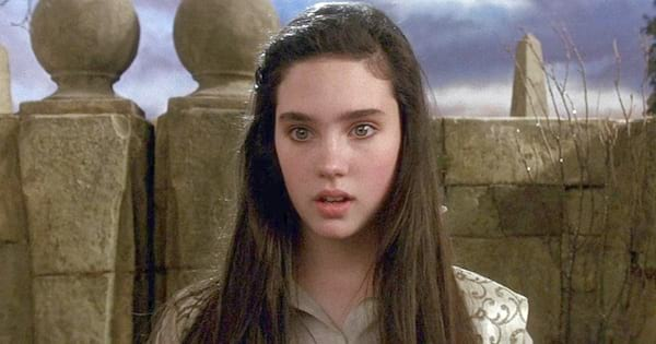 Jennifer Connolley looking stunned in the movie Labyrinth