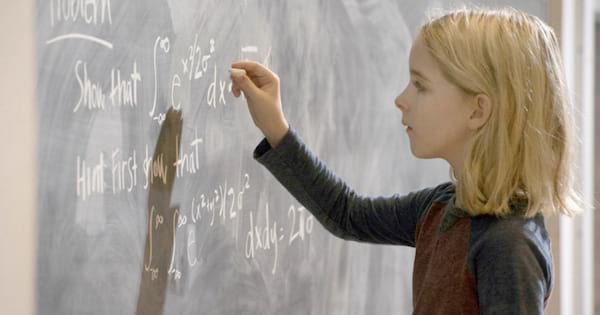 Mckenna Grace in Gifted doing a math prolem