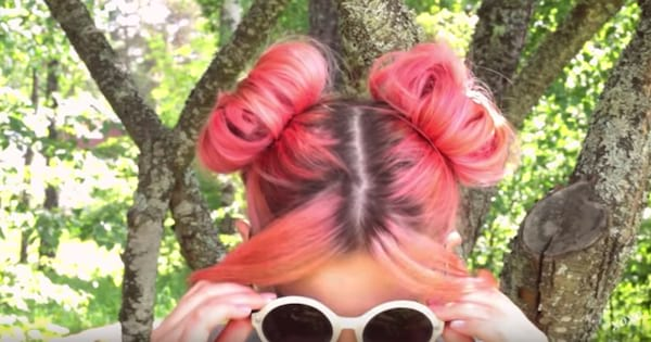 Tutorial for how to create big and full space buns on short hair