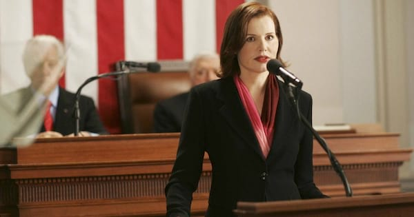 Geena Davis as President Mackenzie in Commander in Chief