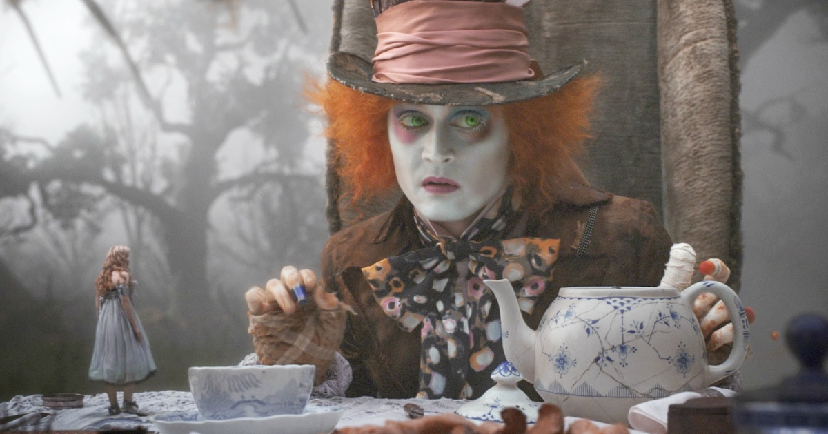Johnny Depp as the Mad Hatter in Disney's live-action remake of Alice in Wonderland