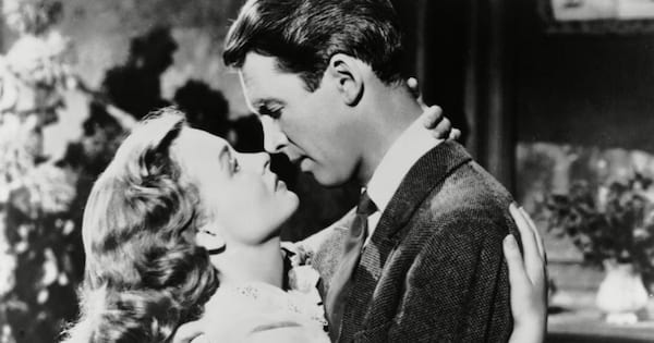 Donna Reed and Jimmy Stewart in It's a Wonderful Life
