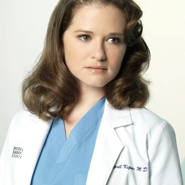 Sarah drew then and now april kepner, grey's anatomy, young vs old, 2018