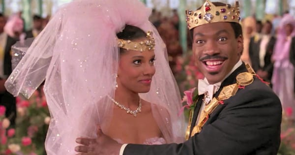 Eddie Murphy on his wedding day in Coming to America