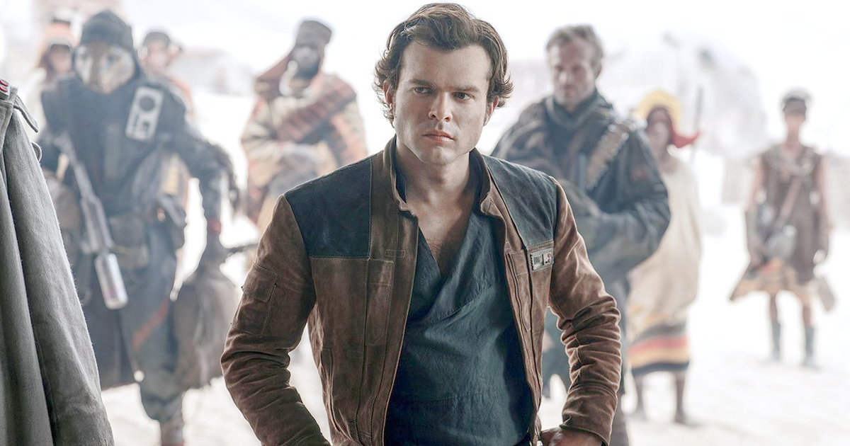 Alden Ehrenreich as a young Han Solo in Solo: A Star Wars Story