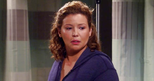 Justina Machado as Penelope on Netflix's One Day at a Time looking upset