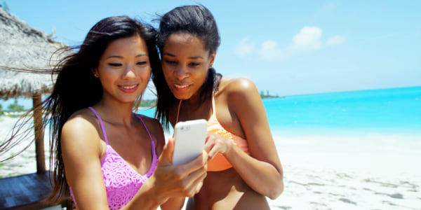 Two woman on the beach., science & tech, wdc-slideshow