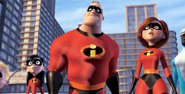 The Parr family in Incredibles 2