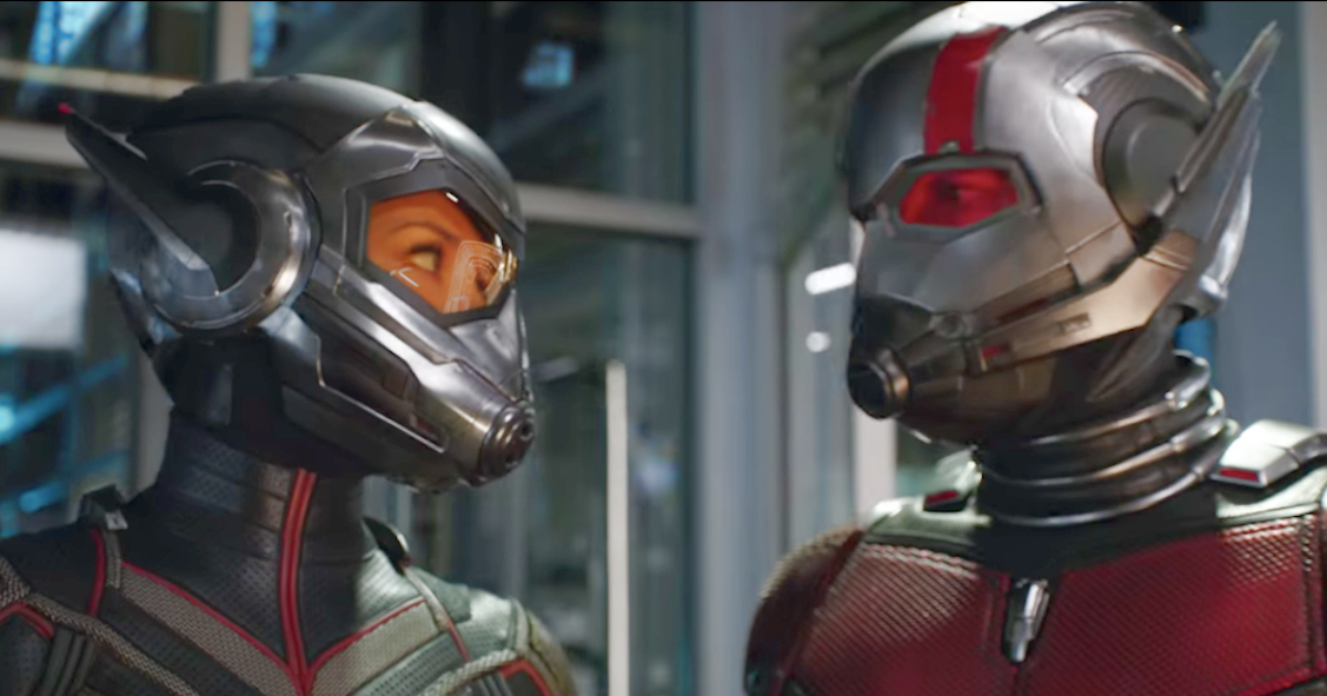 Paul Rudd and Evangeline Lilly as Ant-Man and the Wasp