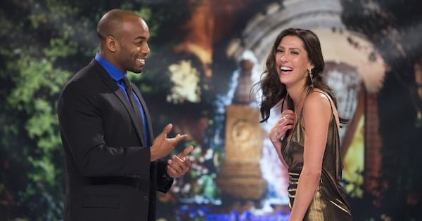 Becca Kufrin meeting The Bachelorette season 14 contestant Darius Feaster on The Bachelor: After the Final Rose