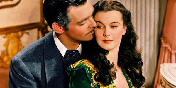 movies, gone with the wind, Clark Gable, Vivien Leigh