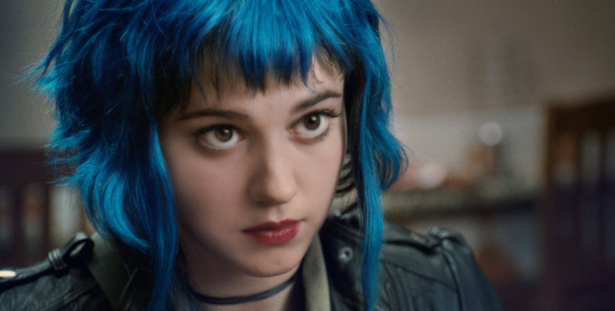 Ramona Flowers with blue hair in Scott Pilgrim vs. the World, .