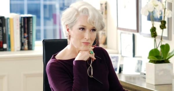 Meryl Streep as Miranda in The Devil Wears Prada