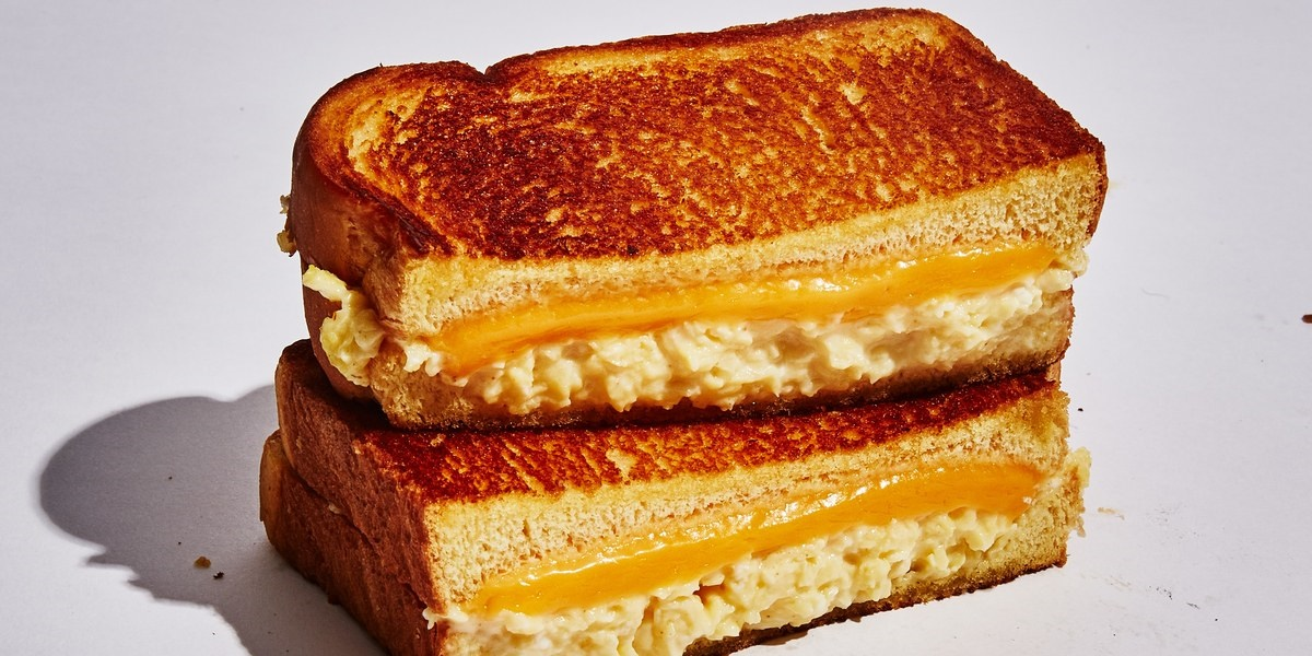 Grilled cheese sandwich., science & tech, food & drinks