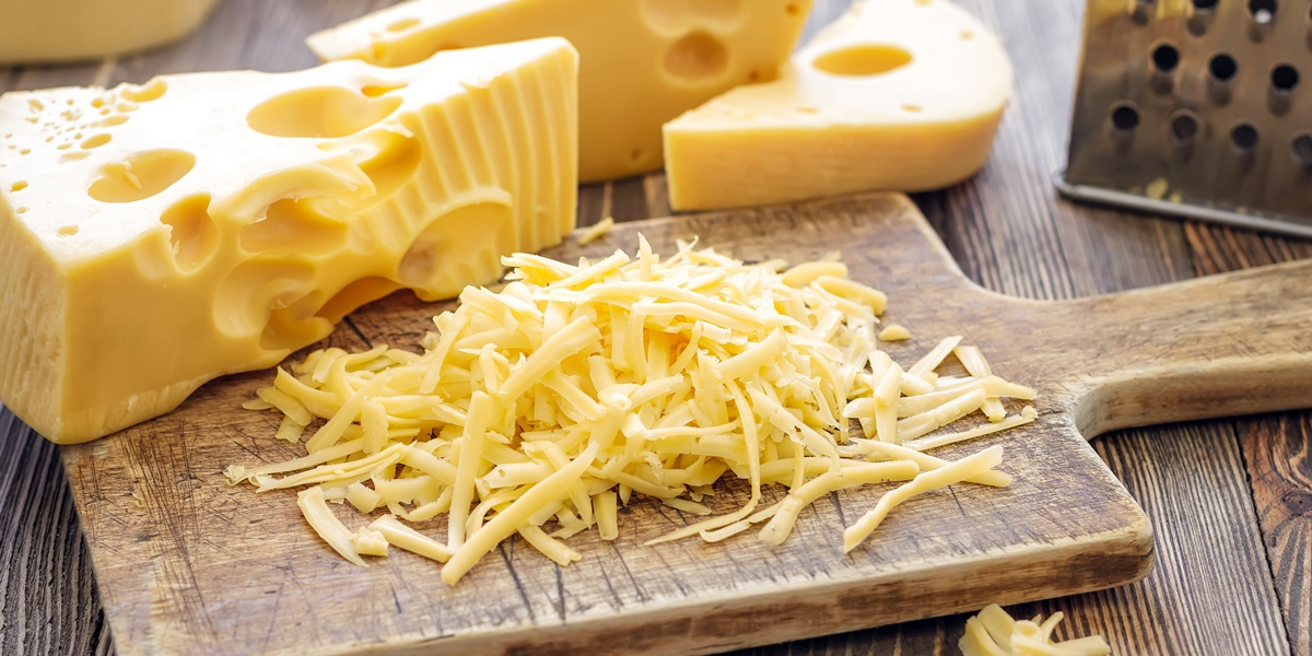 Shredded cheese., science & tech, food & drinks