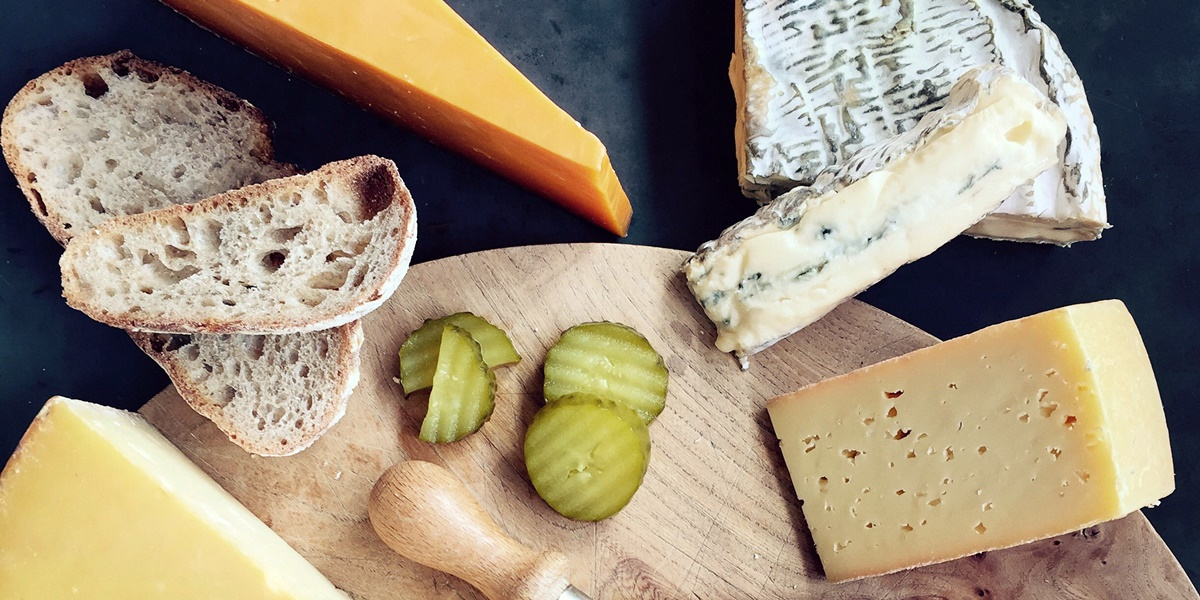 An array of cheeses., science & tech, food & drinks