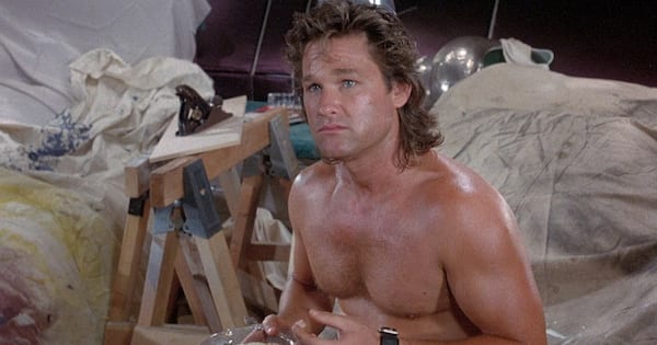 Kurt Russell shirtless in the 1987 movie Overboard