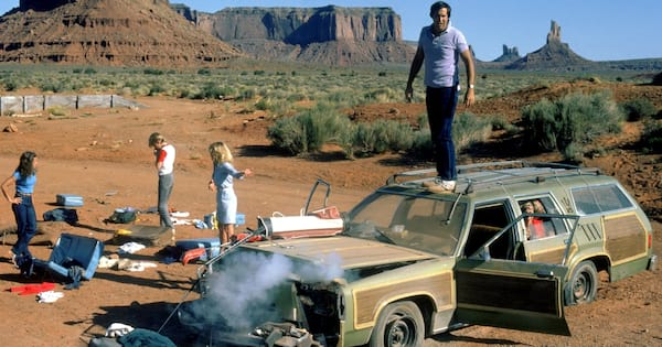 The Griswold's family car broken down in National Lampoon's Vacation