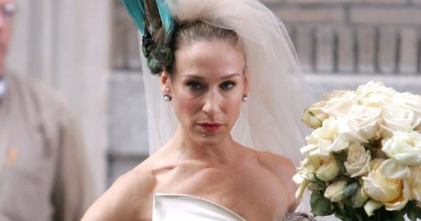 Carrie Bradshaw on her wedding day in the Sex and the City movie