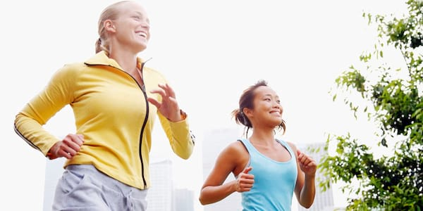 Two women running., science & tech, fitness, health