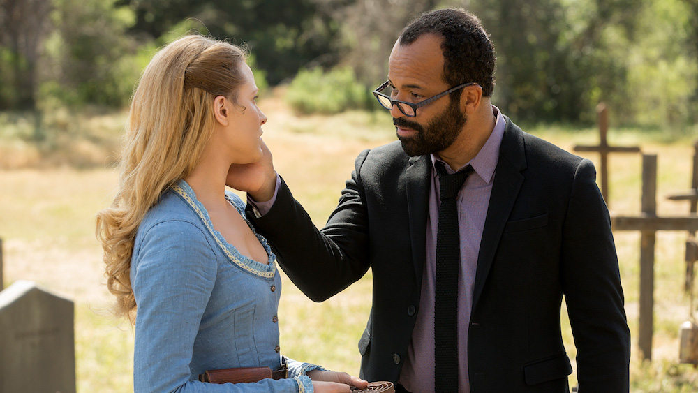tv, westworld, evan rachel wood as dolores, jeffery wright as arnold