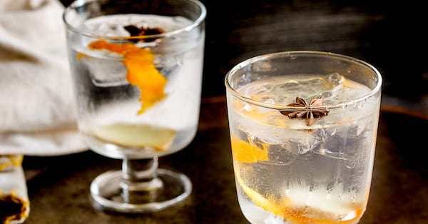 Glasses of gin., science & tech, food & drinks