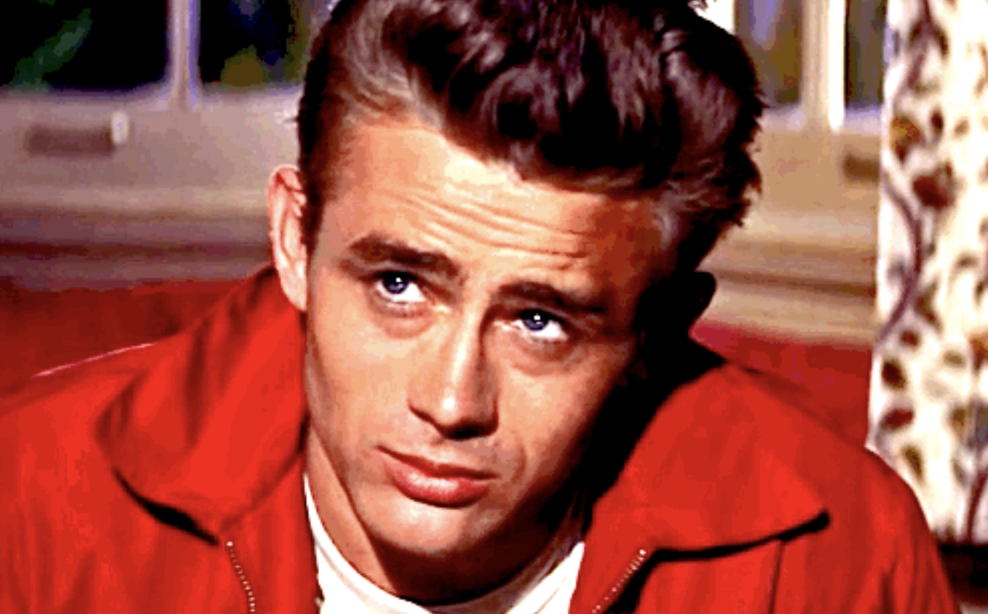 James Dean in Rebel without A Cause, .