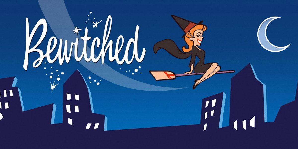 Image from the animated opening to Bewitched., tv, pop culture