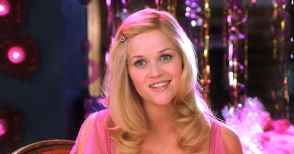 Elle Woods at her bridal shower in Legally Blonde 2: Red, White & Blonde