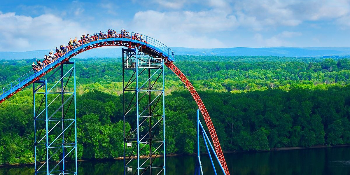 Six Flags roller coaster., science & tech, travel