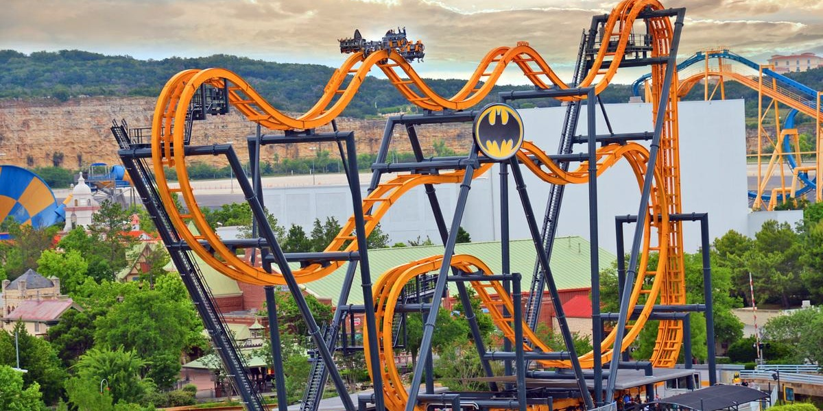 Six Flags rollercoaster., science & tech, travel