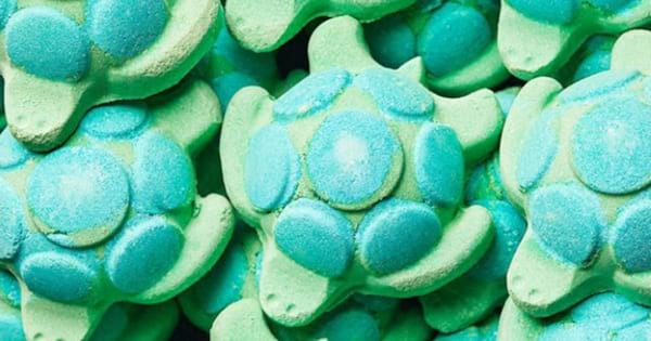 A pile of Lush's new Turtle Jelly Bombs