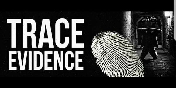 Trace Evidence banner., pop culture