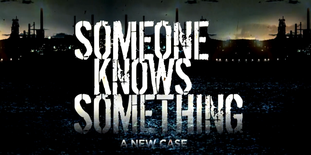 Someone knows something podcast banner., pop culture