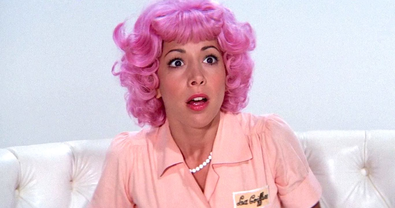 pink hair, grease, pink lady, beauty, make up, shocked, smart, quiz, weird, juju, hero