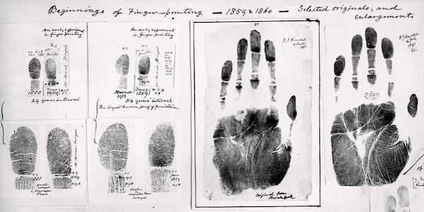 Old hand and fingerprints., tv, movies