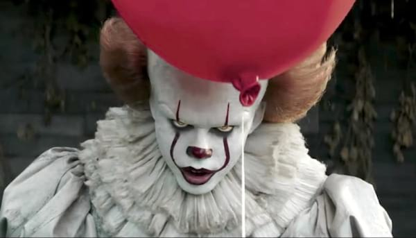 bill skarsgard as pennywise the clown, it, movies