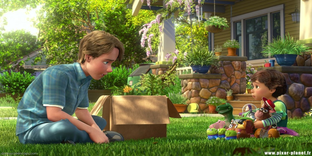 Toy Story 3 - Andy gives away his toys before going to college ending scene, movies