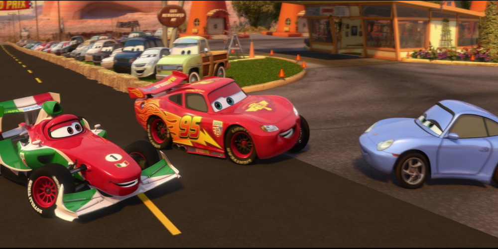Cars 2 - Lightning McQueen introducing Sally ending scene, movies