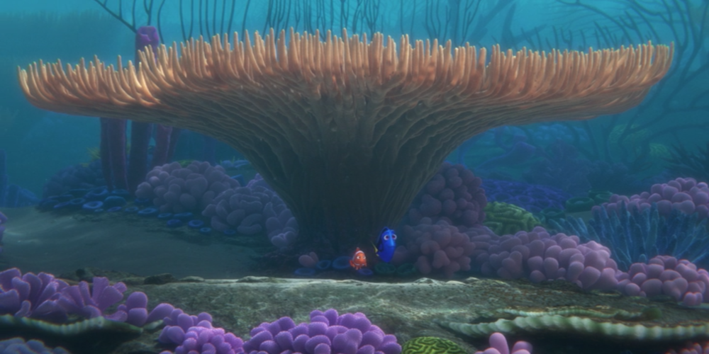 Finding Dory - Marlin and Dory look out to the ocean ending scene, movies