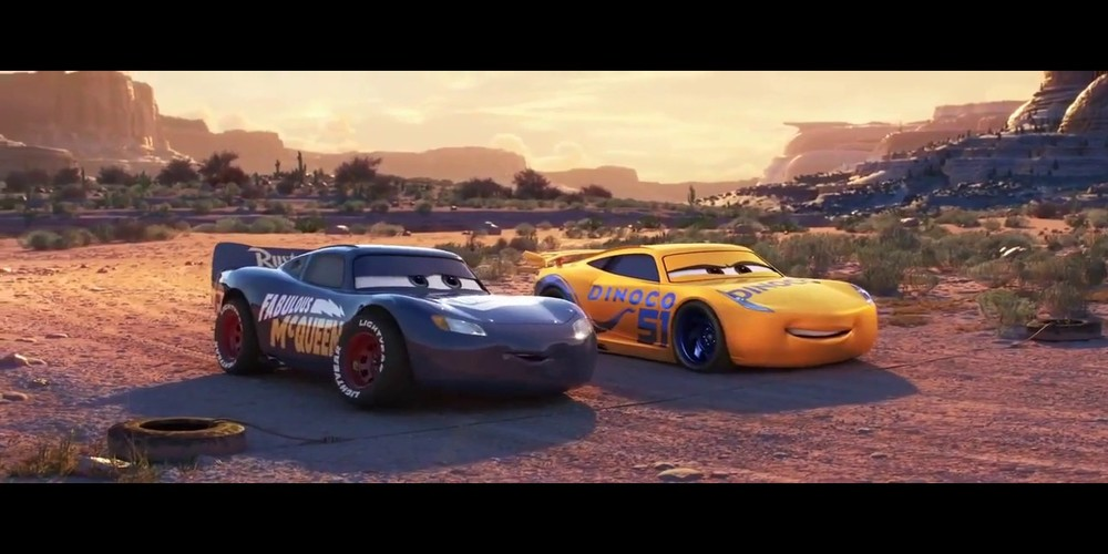 Cars 3 - New Lightning McQueen getting ready to race ending scene, movies