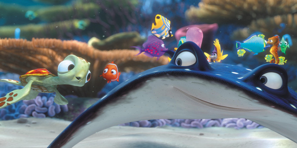 Finding Nemo - Squirt joins Nemo and Mr. Ray ending scene, movies