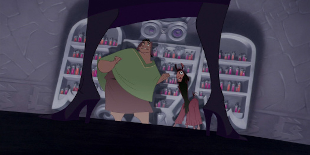 Yzma standing in front of her potions - Emperor's New Groove, movies