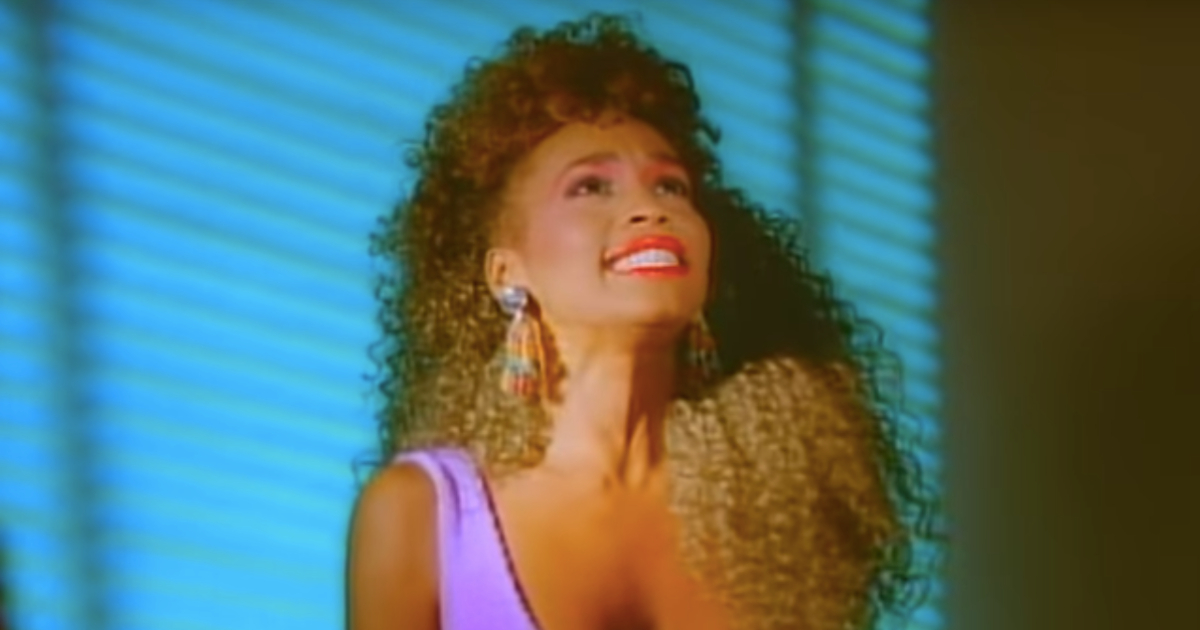 Whitney Houston in her music video for \I Wanna Dance With Somebody (Who Loves Me)\