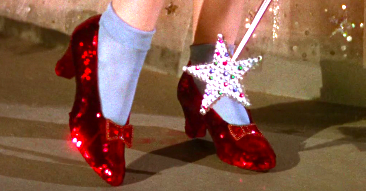 movies, the wizard of oz, ruby slippers